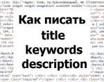 title, keywords, description